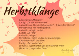 Herbstkonzert mit Duo Bella Musik